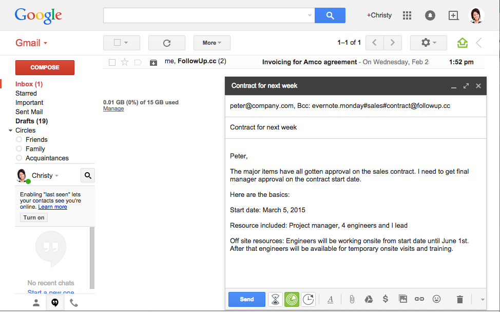 how to create and email for someone else in google