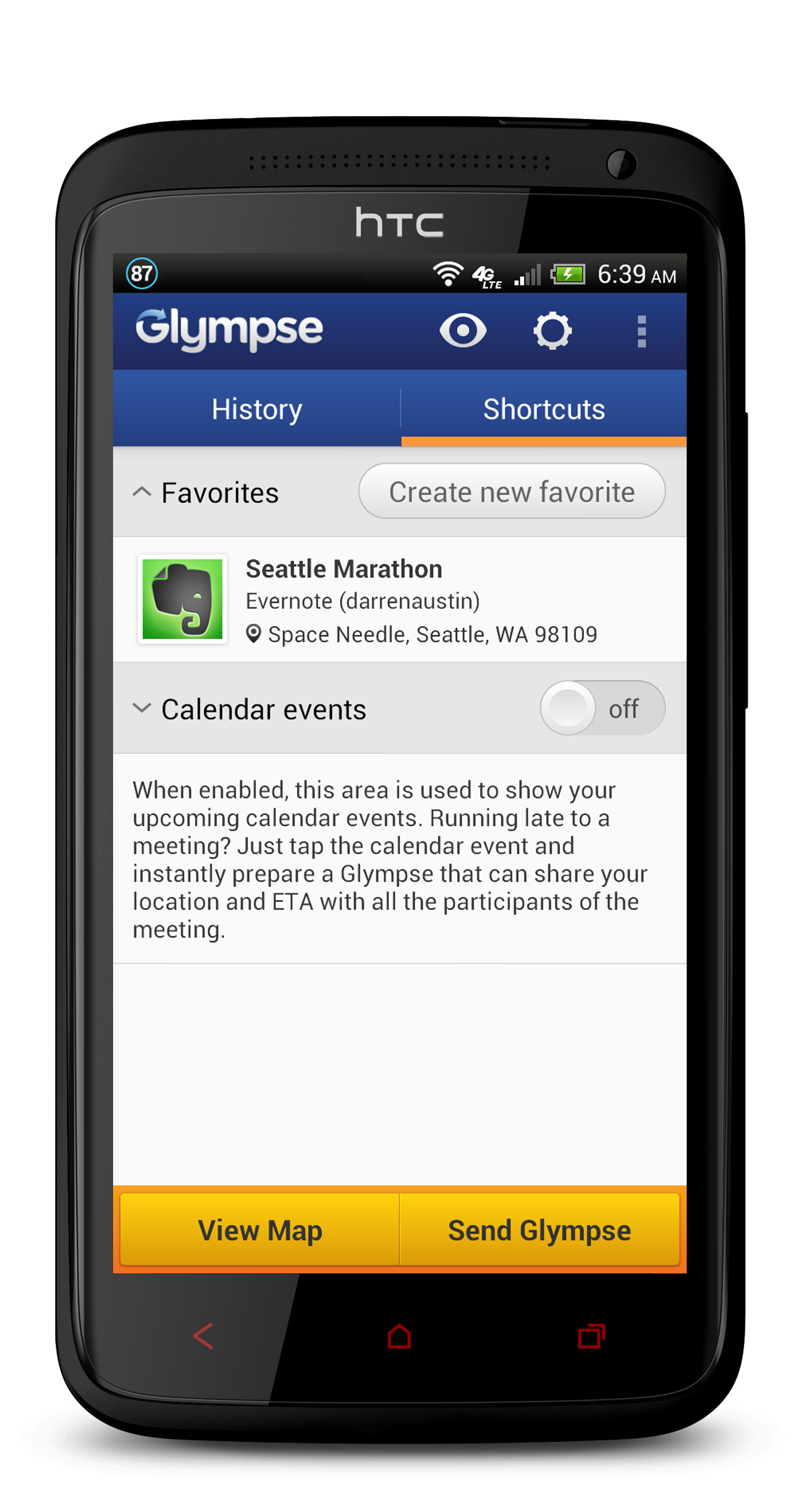 Glympse Android English Evernote App Center