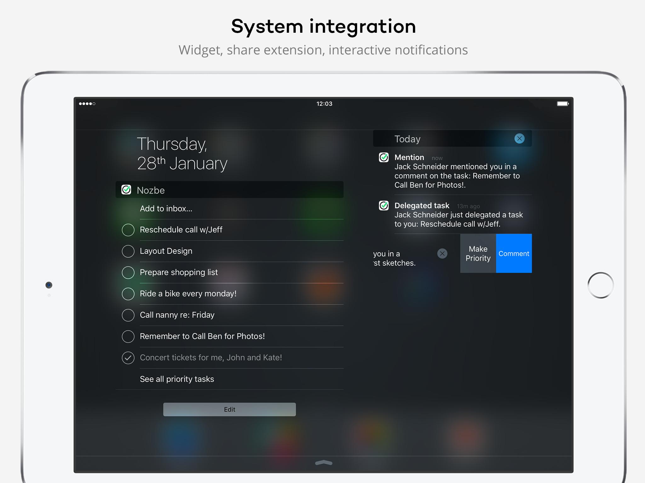 Nozbe - iPad - English - Evernote App Center