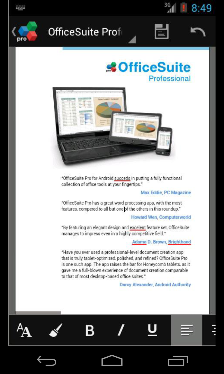Office suite pro android english evernote app center - Office apps for android free ...