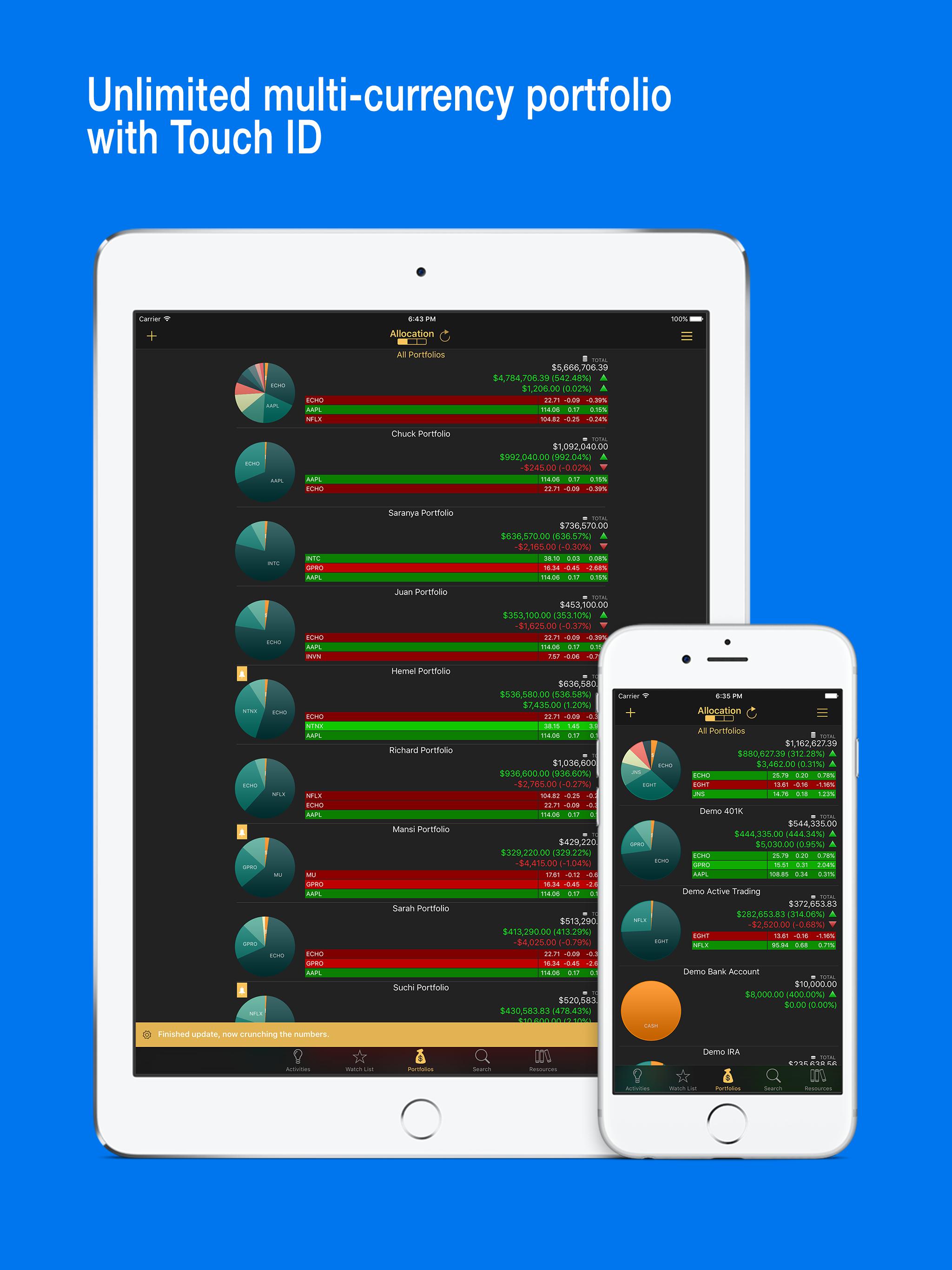 Stocks Live - iPad - English - Evernote App Center