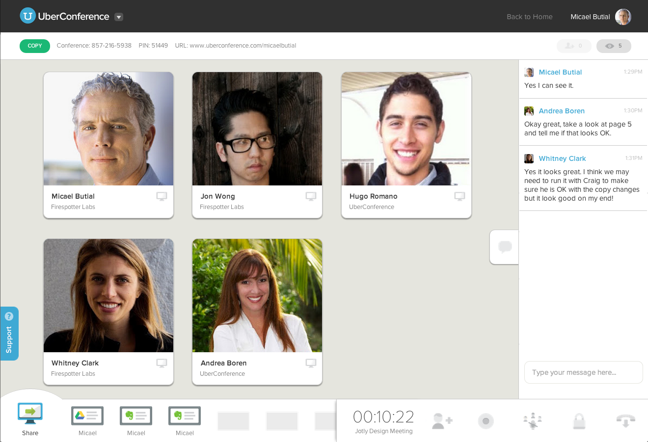UberConference - Web - English - Evernote App Center